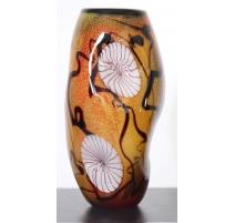 Vase en elliptique Oceania de style Murano