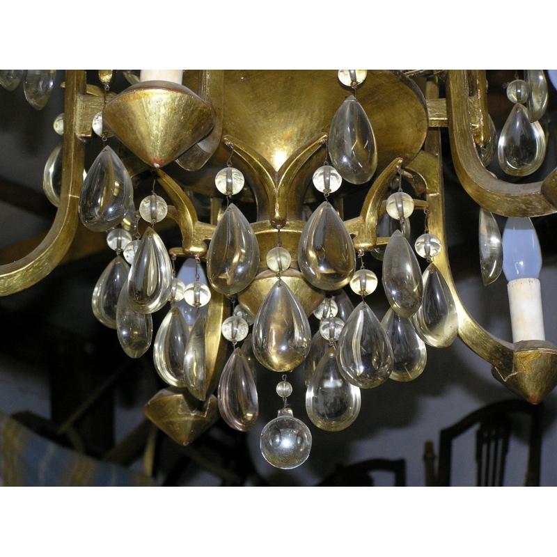 lustre art d co sur moinat sa antiquit s d coration. Black Bedroom Furniture Sets. Home Design Ideas
