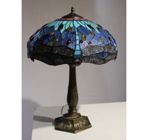 Lampe style Tiffany, libellules bleues