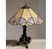 Lampe style Tiffany motif géométrique