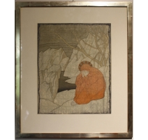 "Tableau ""Femme en Méditation"" de OLSOMMER"