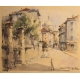 """Aquarelle """"Paris Montmartre"""" signée"""
