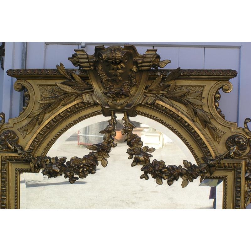 Miroir napol on iii sur moinat sa antiquit s d coration for Miroir napoleon