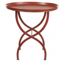 Table à plateau amovible rouge