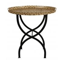 Table à plateau amovible léopard