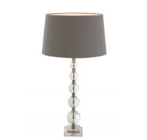 """Lampe boules """"Cara"""" en cristal et laiton"""