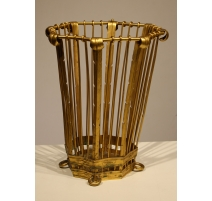 Corbeille ajourée en bronze doré