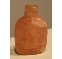 Snuff bottle en quartz rose