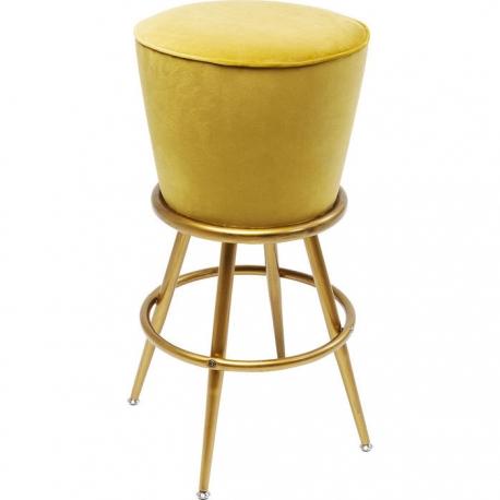 Tabouret de bar Lady Rock jaune - Moinat SA - Antiquités décoration