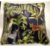 Coussin en Velours jungle