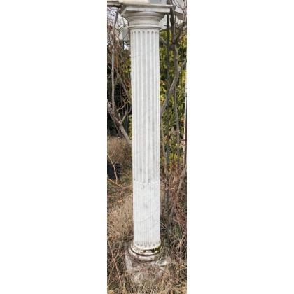 Paire de colonnes cannelées en marbre de Carrare