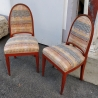 Paire de chaises Art Deco bois orange
