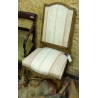 Chaise style Régence tissus Tourneville