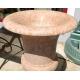 Paire d'urnes en marbre rose