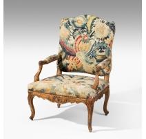 Suite de 4 fauteuils Louis XV en tapisserie