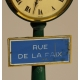 "Pendulette Lampadaire ""RUE DE LA PAIX"""