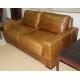 Canapé deux places en cuir Vintage
