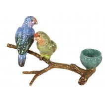 """Bougeoir """"Perroquets sur une branche"""""""