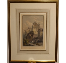 "Gravure ""Castle of Lausanne"" de BARTLETT"