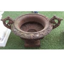 Vasque en fonte brune avec anses
