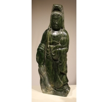 Grande jade sculptée Guanyin