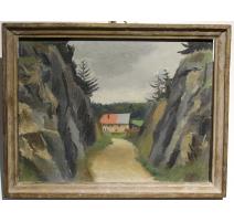 """Tableau """"La Vallée de Joux"""" signé MEYLAN"""