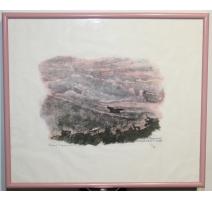 """Gravure """"Brouillards roses"""" signée Robert HAINARD"""