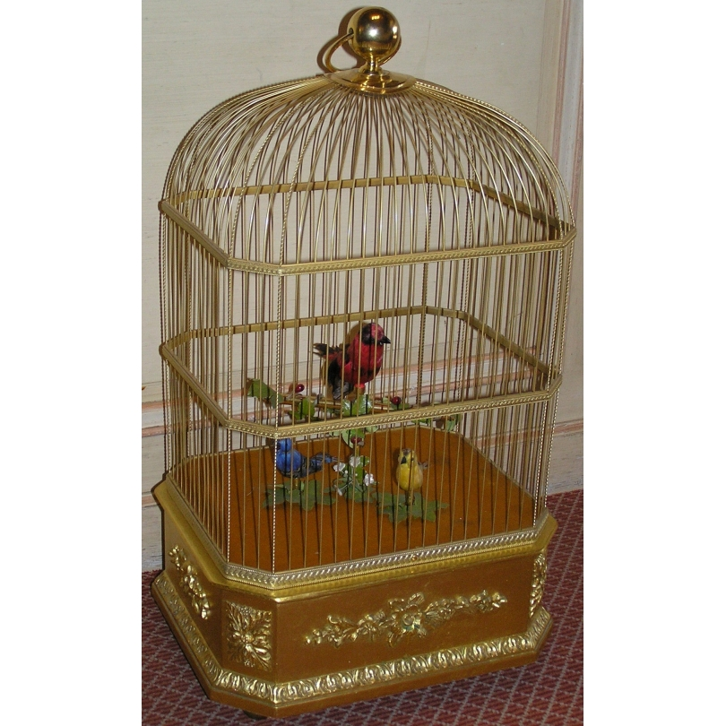 Singing bird in cage by REUGE
