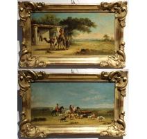 """Paire de tableaux """"Orientalistes"""" signé GERARD"""