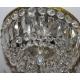 Plafonnier en bronze à cristaux