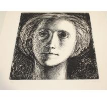 """Litho """"Portrait de ma mère"""" signé CIRY"""