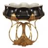 Coupe ovale style Art-Nouveau porcelaine noire