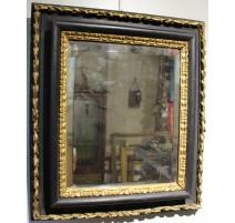 Miroir italien noir et doré
