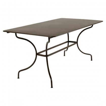 Table en fer forgé MANOSQUE coloris rouille