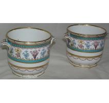 Pair of Sèvres flower pots