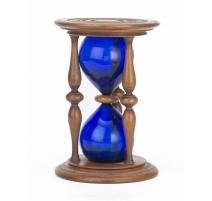 Sablier en verre bleu