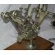 Vase rond en porcelaine et bronze avec