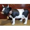 """Vache en résine """"Fribourgeoise"""" noire et blanche"""