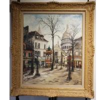 "Tableau ""Montmarte"" signé FARGE 1928"