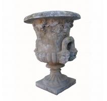 Vase Médicis décorée de feuilles de vigne