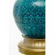 Paire de vases en céramique turquoise signées DECK
