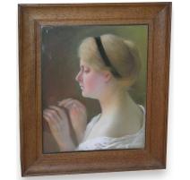 """Pastel """"Portrait, jeune fille"""""""