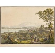 """Gravure """"Vue de Genève"""" par BIEDERMANN"""