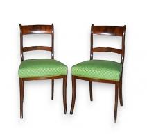 Série de 6 chaises Regency.
