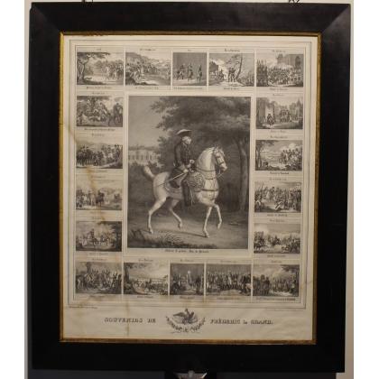 """Gravure """"Souvenirs de Fréderic le Grand"""" par KRAMP"""