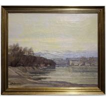 "Painting ""L'Arve, Geneva"", sig"