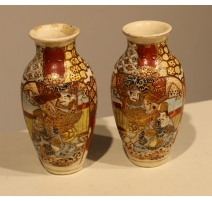 Paire de vases Satsuma