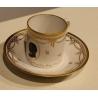 Tasse et sous-tasse en porcelaine de Nyon