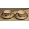 Paire de tasses et sous-tasses dorées de Rosenthal