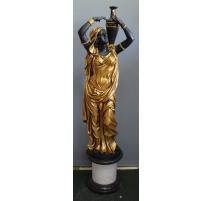 Rebecca en bronze doré et noirci socle marbre